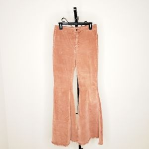 We the Free Coral Courduroy Flare Pants, Size 29